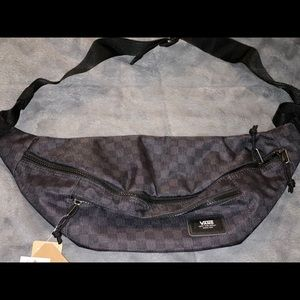 Vans black checker fanny pack - BNWT